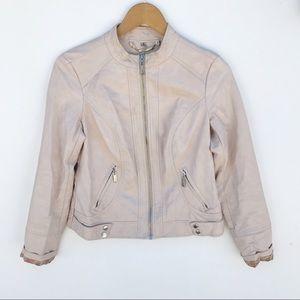 JouJou Faux Leather Moto Jacket size S